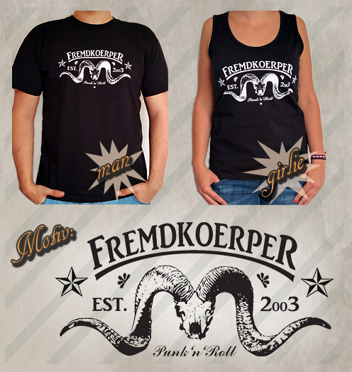 """T-Shirt/Girlie-Shirt """"Fremdkoerper — Punk'n'Roll"""""""